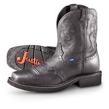 pull on motorcycle boots women u0027s justin gypsy deer saddle pull on boots black 200953
