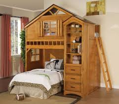 loft bed design kids room twin loft bed with bookcase tree house design with