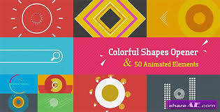 motion graphic template free download videohive colorful opener