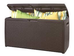 keter rattan effect storage box brown amazon co uk garden