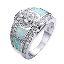 opal silver rings images 925 sterling silver white fire opal wedding rings for women white jpg