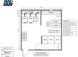 design floor plan on premises laundry room design layout services