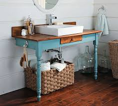 How To Build A Bathroom Vanity From An Old Dining Table Makely - Bathroom vanity tables