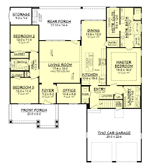 gorgeous open floor plan of craftsman house 142 1158 floor plan