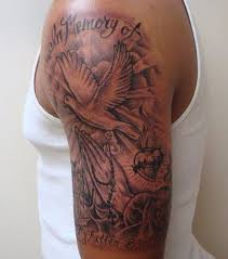 chest and arm tattoos design creativefan