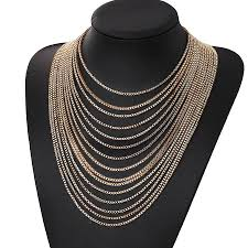 big chain necklace fashion images Multi layer big chain necklace zarinz jpg