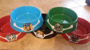 custom dog bowl party dishes paw patrol personalized dog