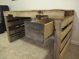 Homemade Wooden Computer Desk by Build A Computer Desk From Pallets Wooden Pallet Furniture