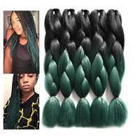 packs of kanekalon hair 1 5 bundles jumbo braiding hair 24 ombre kanekalon afro box braid