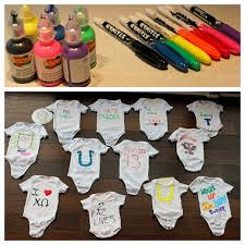 Funny Baby Shower Games For Guys - decorate a onesie baby shower activity great alternative to a