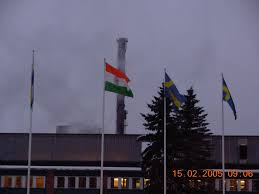 volvo office indian flag hoisted at volvo adayavalanjanstreet