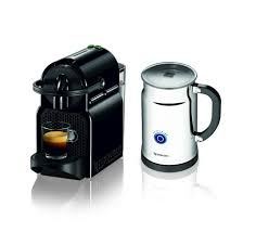 espresso maker electric nespresso inissia espresso maker with milk frother black