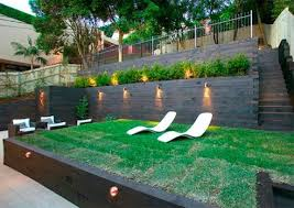 chic tiered backyard landscaping ideas backyard kids play area