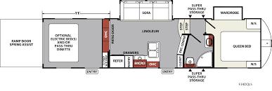 R Pod Floor Plans Xlr Nitro Travel Trailer U0026 Fifth Wheel Toy Haulers Floorplans