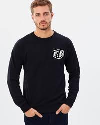 shield crew sweater by deus ex machina online the iconic australia