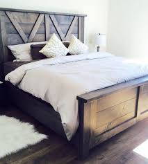 exciting farmhouse bed frame plans 99 for your simple design decor