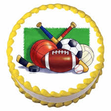 sports cake toppers 24 soccer basketball golf tennis baseball football balls