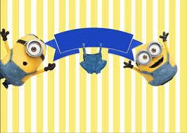 minions baby shower 7x5ft blue stripes minions trousers blue ribbons baby shower