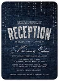 post wedding reception invitation wording post wedding reception only invitations denim diamonds