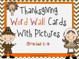 thanksgiving word wall cards by educating everyone 4 tpt