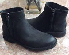 s ugg australia nubuck boots ugg australia rea black leather sheepwool chelsea ankle boots