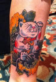 lucky cat tattoo maneki neko tattoo design ideas 2018