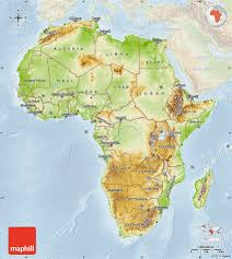 africa map elevation geographical features of africa map africa map