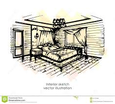 home design sketch free hand drawn interior sketch home design bedroom provence style