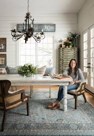 Modern Dining Room Rugs Ella Light Blue Rug Joanna Gaines Magnolia And Traditional