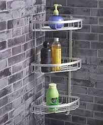 Stainless Steel Bathroom Shelving Grundtal Corner Wall Shelf Unit Stainless Steel Corner Unit