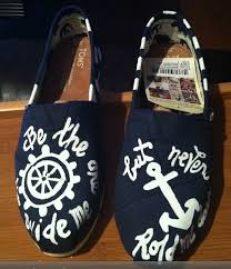 Hand Painted Love Anchors The - custom handpainted love faith hope anchors the soul toms anchor