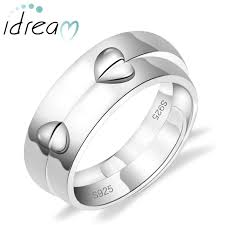 promise rings for men adjustable half hearts puzzled promise rings set for women and men
