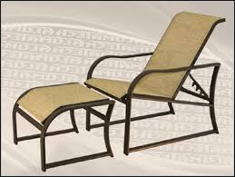Patio Chairs With Ottoman Slingback Patio Chairs With Ottoman Patios Home Decorating
