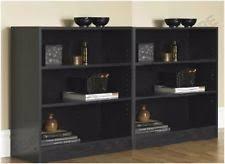 2 Shelf Black Bookcase Bookcases Ebay