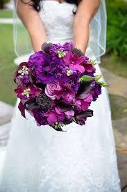 purple wedding bouquets wedding wednesday purple bridal bouquets flirty fleurs the