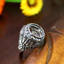 2018 13mm round cabochon semi mount engagement men ring sterling
