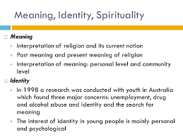 education and s search for meaning identity and