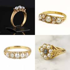 best pearl rings images Best of the 39 bee pearl engagement ring tips and ideas weddingbee jpg