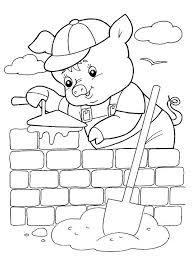 pigs coloring pages childrens printable free