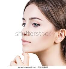 hair i woman s chin sideways woman face sideways stock images royalty free images vectors