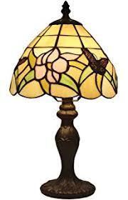 tiffany style small arielle accent lamp table lamps amazon com