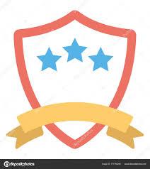creatively designed flat vector icon design creatively designed shield three stars award