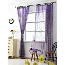 chic flower tall embroidered sheer curtains