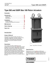 585 585r actuator instruction manual by rmc process controls