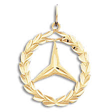 mercedes jewelry 14kt yellow gold 3 4in mercedes wreath pendant crm 8034 jewelers