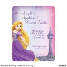 Birthdays Invitation Cards Rapunzel Birthday Invitation 4 25
