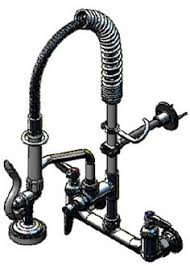 T S Pre Rinse Faucet T U0026s Brass Workboard Faucet W Spray Valve 8 Inch Centers Vacuum