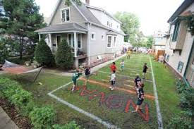 Football Field In Backyard A Real Field Good Story Articles News Forestparkreview Com
