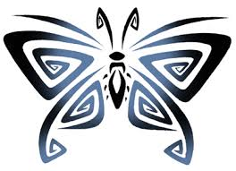 tribal butterfly side view by ashes360 on clipart library clip