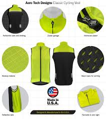 bicycle windbreaker aero tech designs windbreaker cycling vest u2013 high visibility and